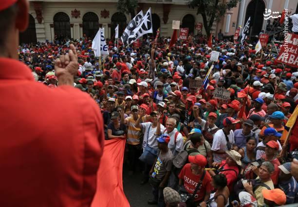 عکس/ تظاهرات حامیان نیکلاس مادورو در ونزوئلا - 10