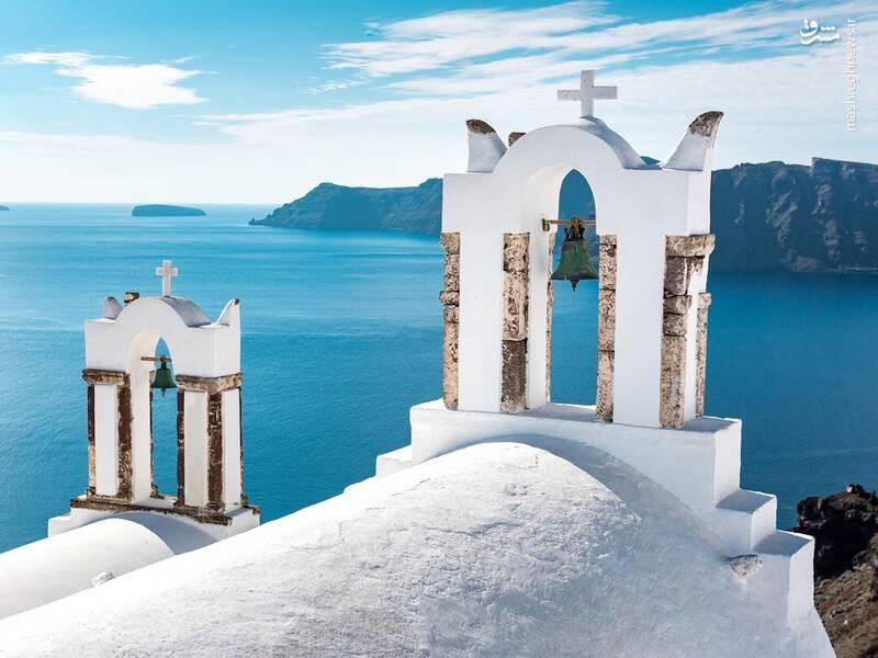 عکس/ جزیره سفید و آبی یونان - 9