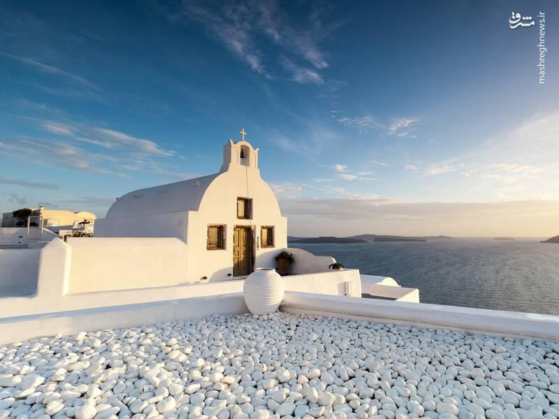 عکس/ جزیره سفید و آبی یونان - 6