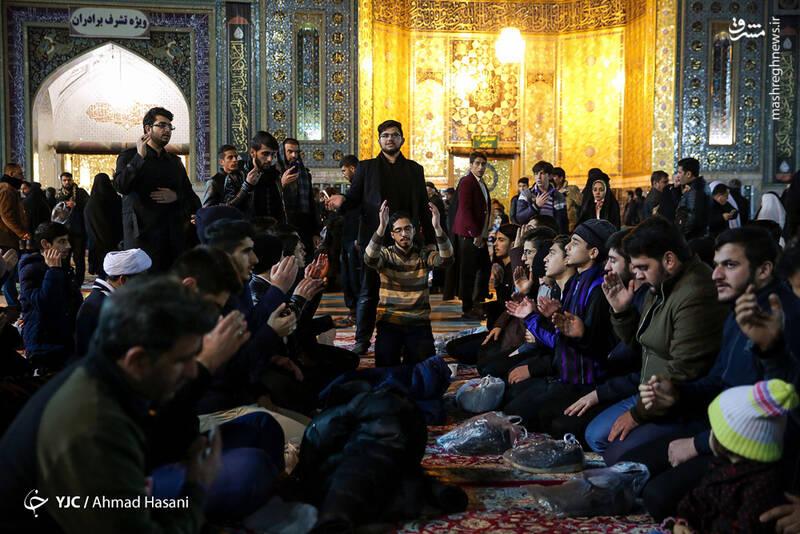 عکس/ شب شهادت حضرت زهرا (س) در حرم مطهر رضوی - 19