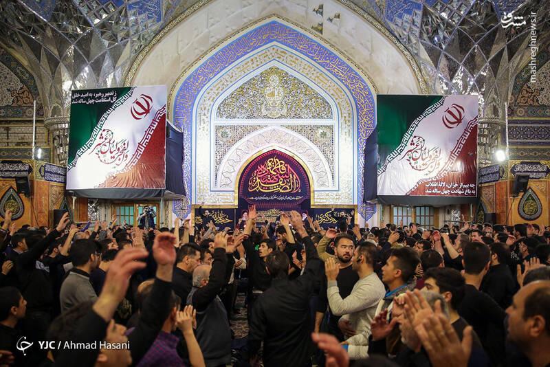 عکس/ شب شهادت حضرت زهرا (س) در حرم مطهر رضوی - 9