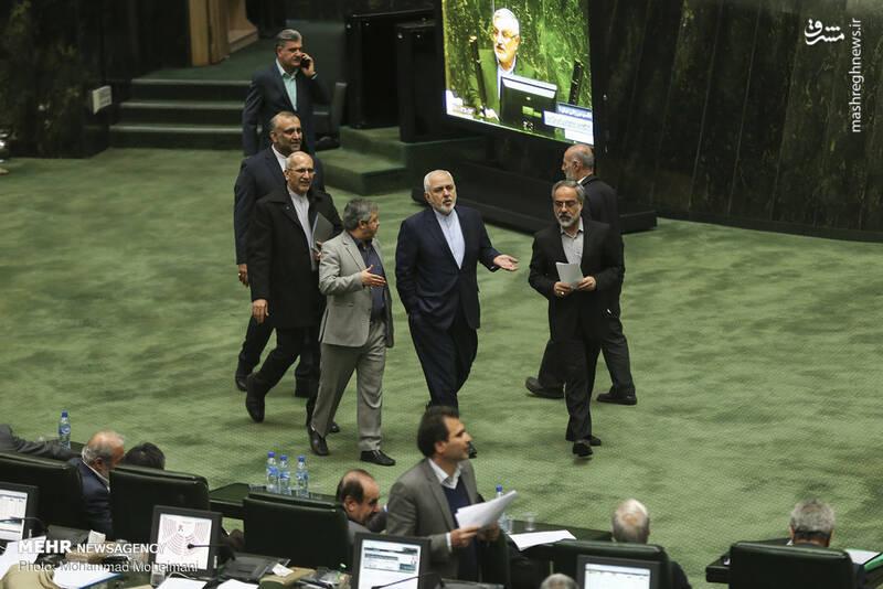 عکس/ حضور ظریف در صحن علنی مجلس - 2