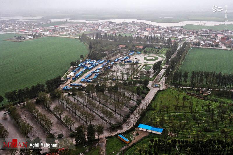 تصاویر هوایی سیل و آبگرفتگی در گنبد کاووس - 17