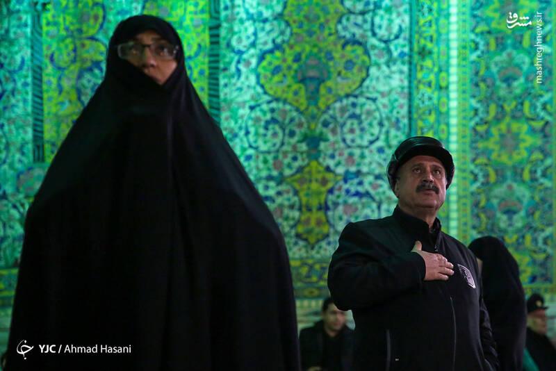 عکس/ شب شهادت حضرت زهرا (س) در حرم مطهر رضوی - 13