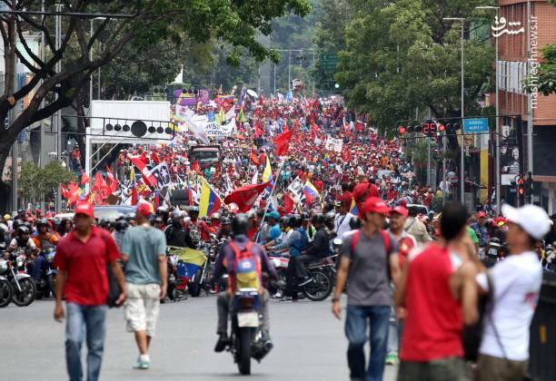 عکس/ تظاهرات حامیان نیکلاس مادورو در ونزوئلا - 5