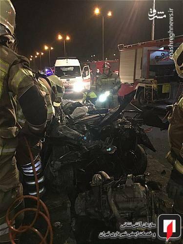 عکس/ تصادف مرگبار پژو ۲۰۷ در تهران - 8