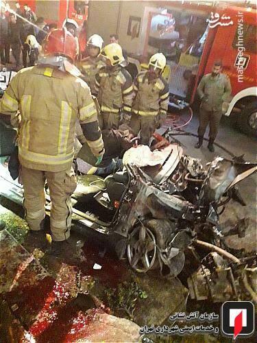 عکس/ تصادف مرگبار پژو ۲۰۷ در تهران - 3
