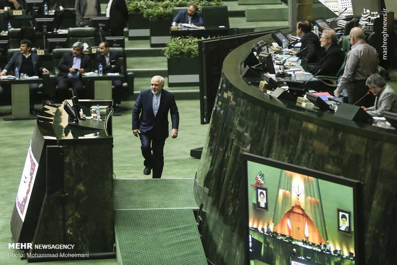 عکس/ حضور ظریف در صحن علنی مجلس - 4