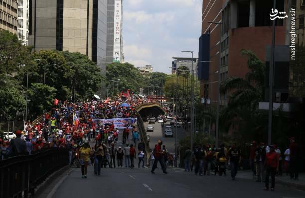 عکس/ تظاهرات حامیان نیکلاس مادورو در ونزوئلا - 7