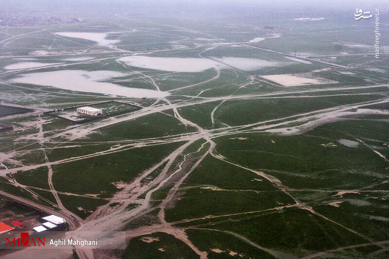 تصاویر هوایی سیل و آبگرفتگی در گنبد کاووس - 25