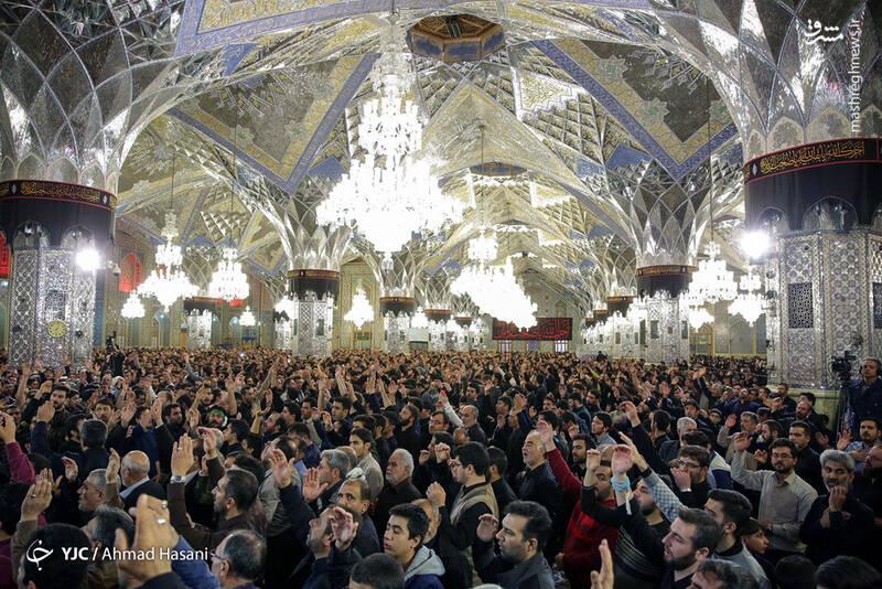 عکس/ شب شهادت حضرت زهرا (س) در حرم مطهر رضوی - 7