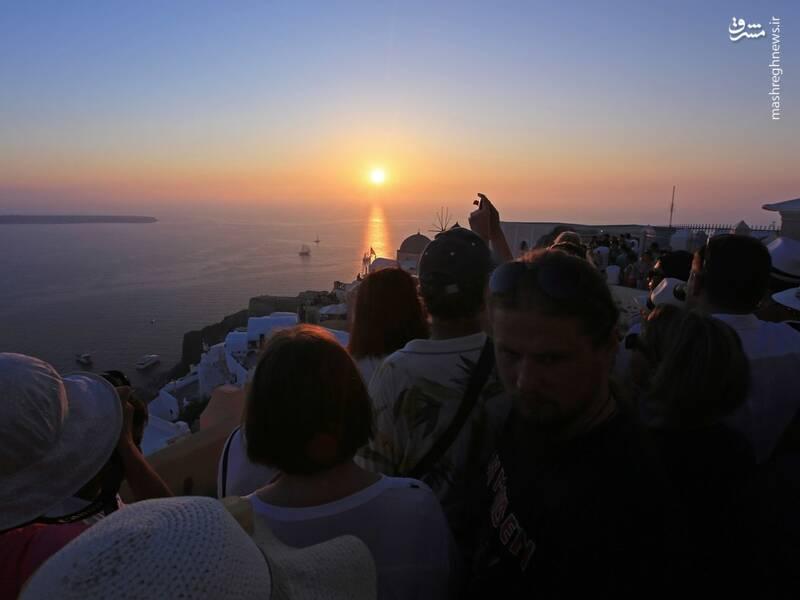 عکس/ جزیره سفید و آبی یونان - 12