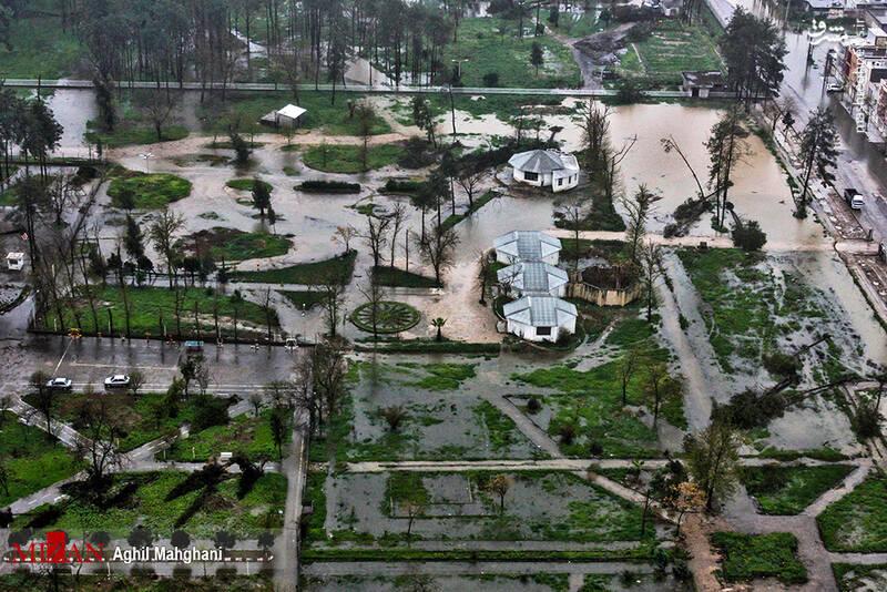 تصاویر هوایی سیل و آبگرفتگی در گنبد کاووس - 23