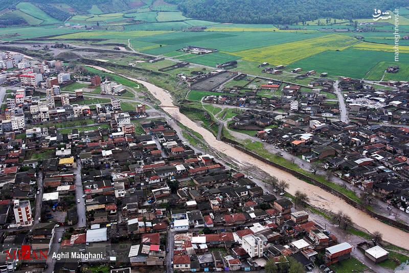 تصاویر هوایی سیل و آبگرفتگی در گنبد کاووس - 30