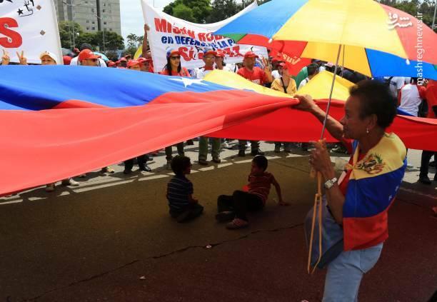 عکس/ تظاهرات حامیان نیکلاس مادورو در ونزوئلا - 12