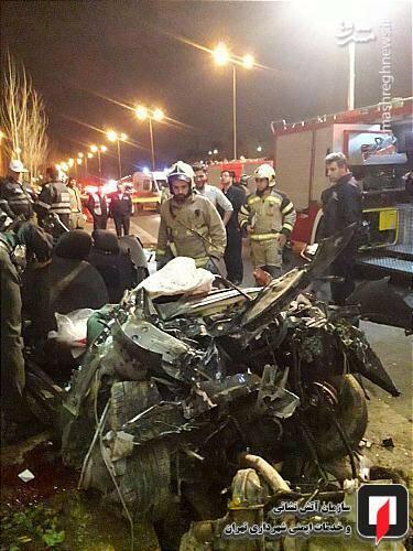 عکس/ تصادف مرگبار پژو ۲۰۷ در تهران - 6