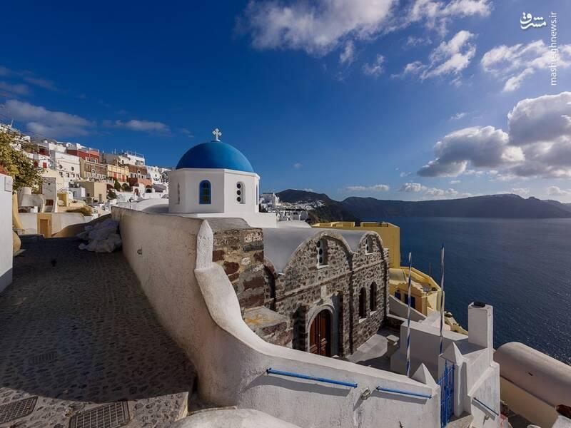 عکس/ جزیره سفید و آبی یونان - 3