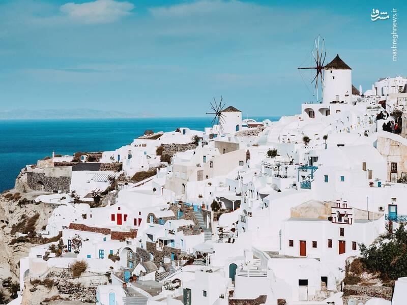 عکس/ جزیره سفید و آبی یونان - 8