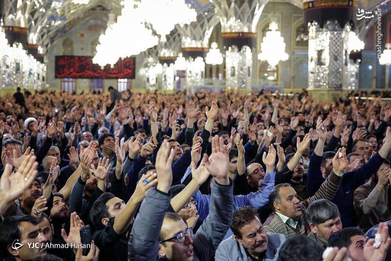 عکس/ شب شهادت حضرت زهرا (س) در حرم مطهر رضوی - 4