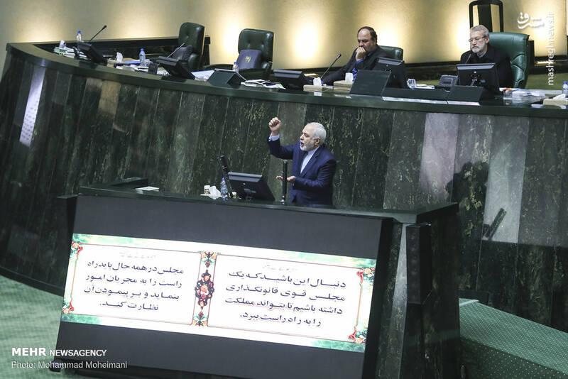 عکس/ حضور ظریف در صحن علنی مجلس - 6