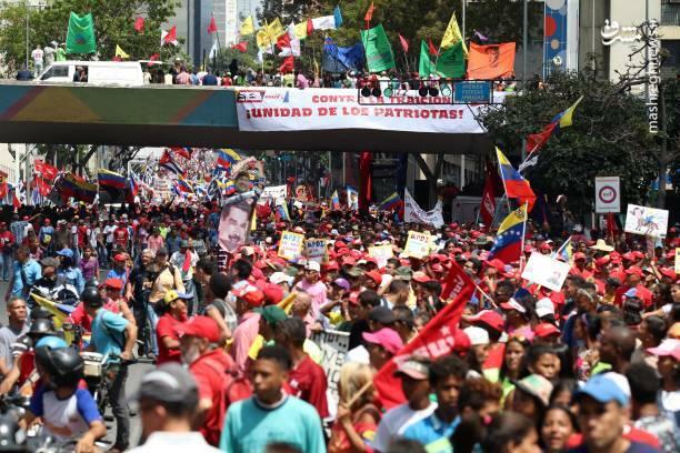 عکس/ تظاهرات حامیان نیکلاس مادورو در ونزوئلا - 11