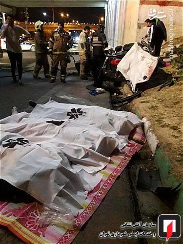 عکس/ تصادف مرگبار پژو ۲۰۷ در تهران - 2