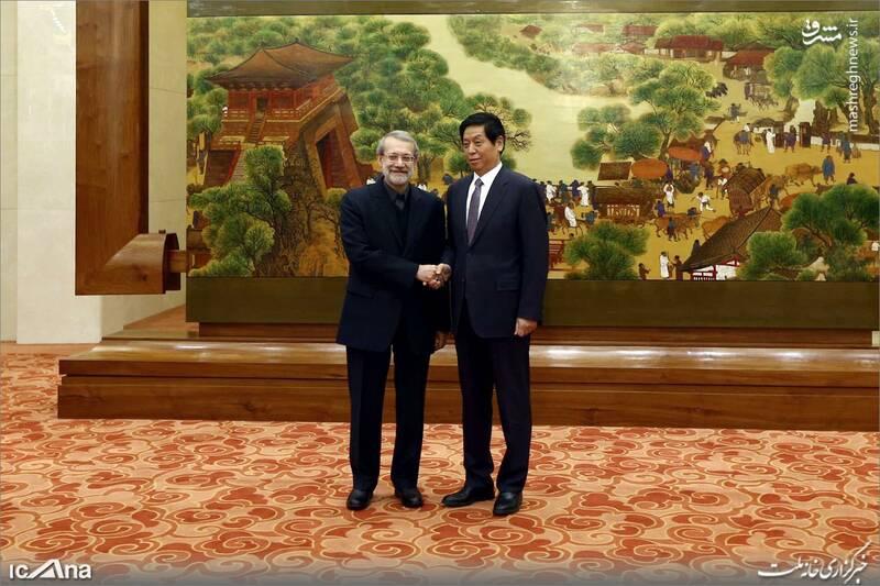 عکس/ دیدار لاریجانی با رئیس کنگره خلق چین - 2