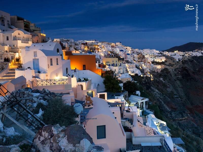 عکس/ جزیره سفید و آبی یونان - 11