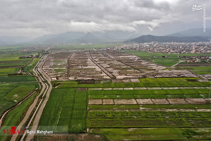 تصاویر هوایی سیل و آبگرفتگی در گنبد کاووس - 2
