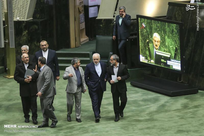 عکس/ حضور ظریف در صحن علنی مجلس - 0