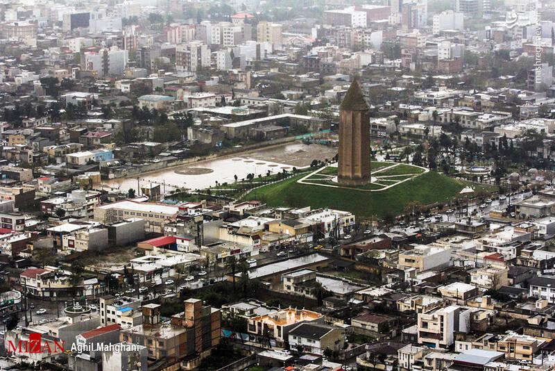 تصاویر هوایی سیل و آبگرفتگی در گنبد کاووس - 14