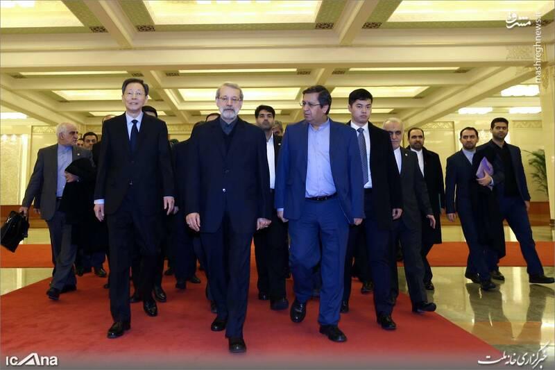 عکس/ دیدار لاریجانی با رئیس کنگره خلق چین - 0