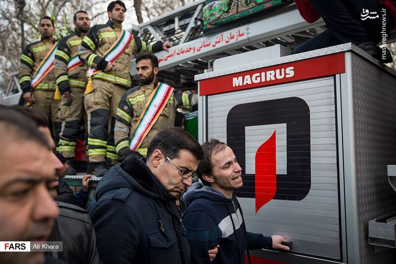 عکس/ تشییع پیکر آتشنشان شهید - 15
