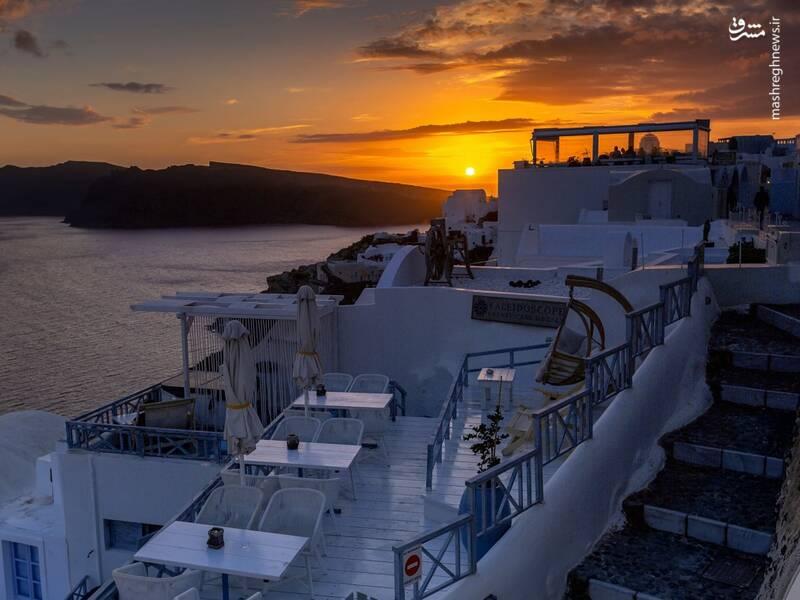 عکس/ جزیره سفید و آبی یونان - 13