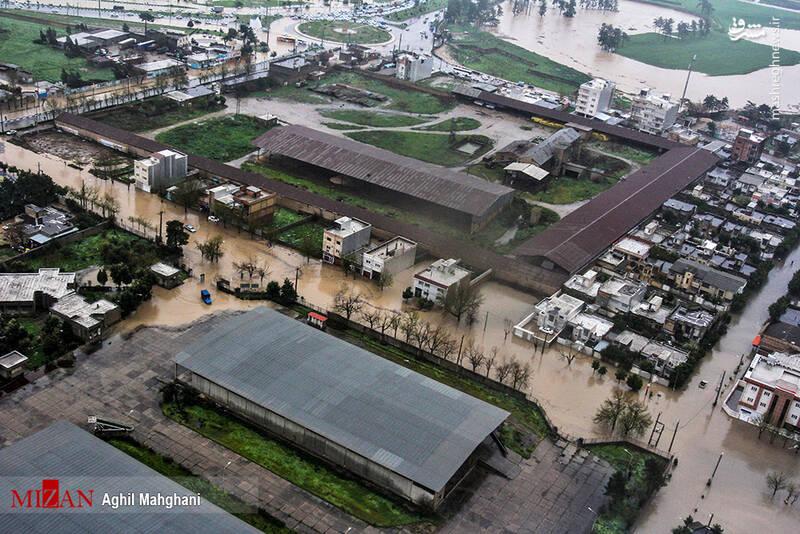 تصاویر هوایی سیل و آبگرفتگی در گنبد کاووس - 19