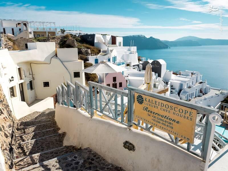 عکس/ جزیره سفید و آبی یونان - 1