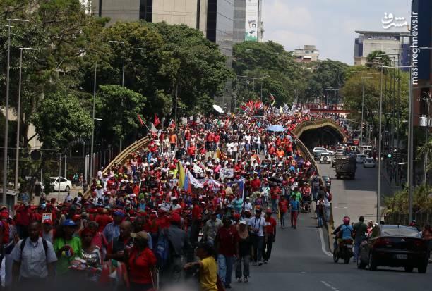 عکس/ تظاهرات حامیان نیکلاس مادورو در ونزوئلا - 2