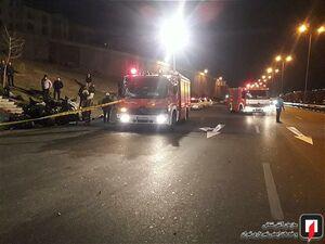 عکس/ تصادف مرگبار پژو ۲۰۷ در تهران