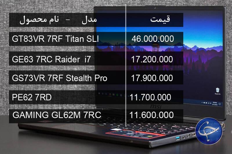 جدول/ آخرین قیمت انواع لپتاپ در بازار - 26