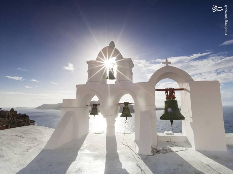 عکس/ جزیره سفید و آبی یونان - 5