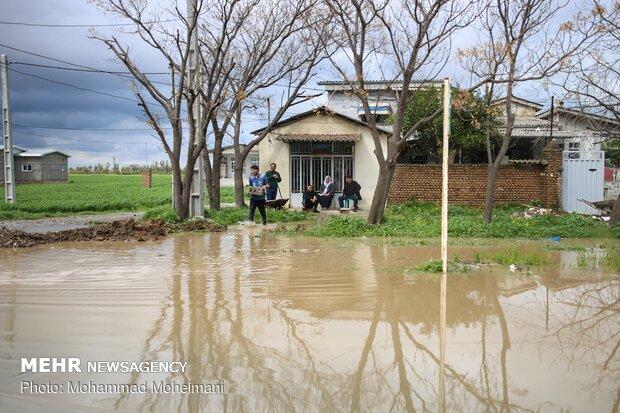 شدت گرفتن سیلاب در روستاهای استان گلستان - 9