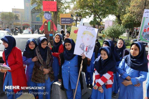 راهپیمایی استکبار ستیزی ۱۳ آبان در استانها - 22