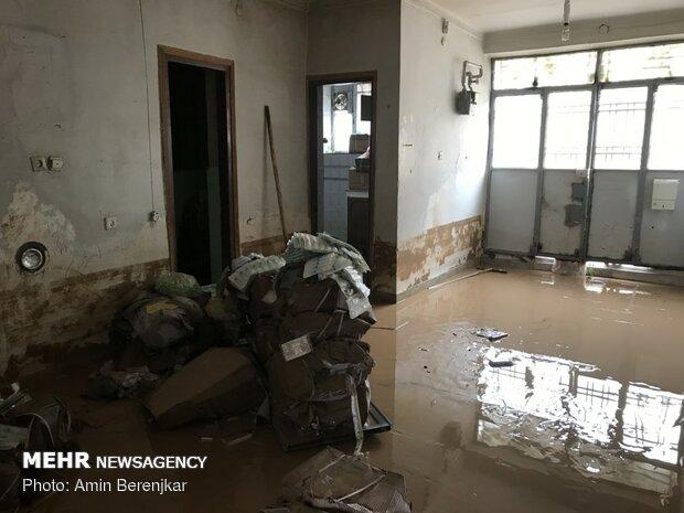 خسارات سیل در محله سعدی شیراز - 12