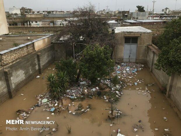 خسارات سیل در محله سعدی شیراز - 15
