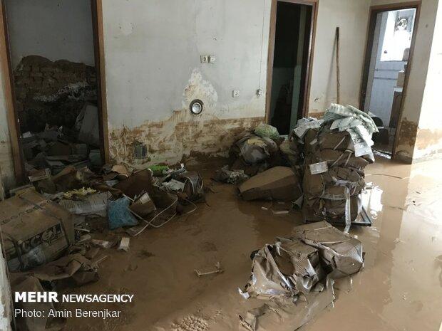 خسارات سیل در محله سعدی شیراز - 10