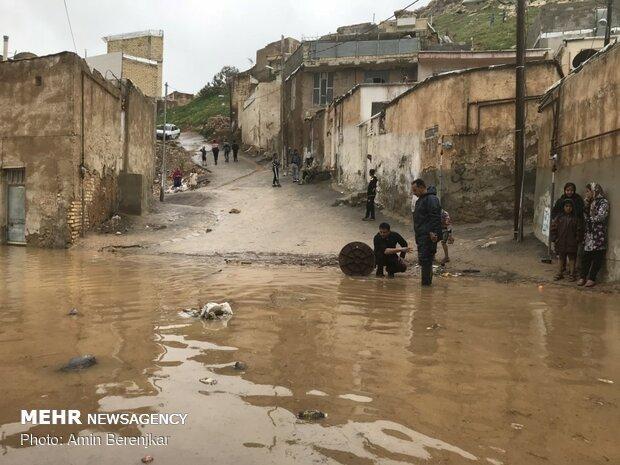 خسارات سیل در محله سعدی شیراز - 17