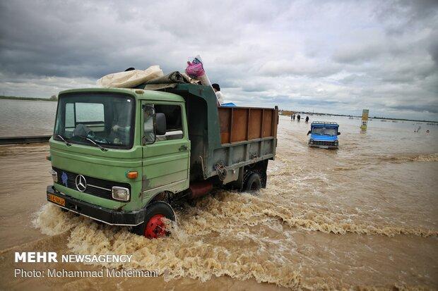 شدت گرفتن سیلاب در روستاهای استان گلستان - 27