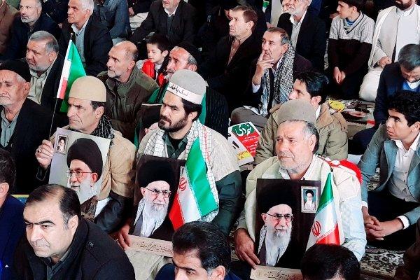 مراسم بزرگداشت حماسه ۹ دی در یاسوج آغاز شد/ حضور پرشور مردم - 7
