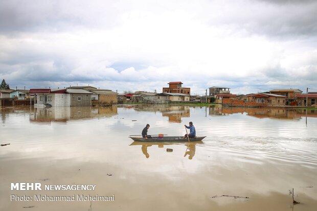 شدت گرفتن سیلاب در روستاهای استان گلستان - 7
