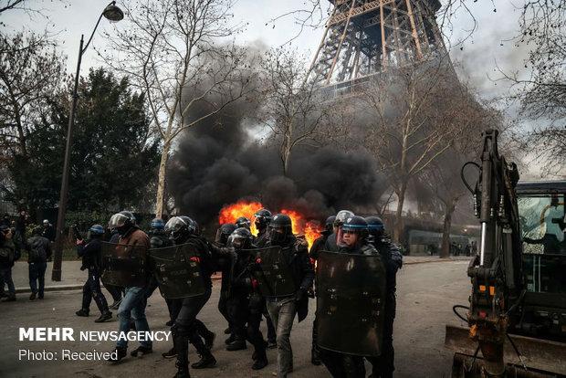 سیزدهمین شنبه اعتراضات در فرانسه - 10